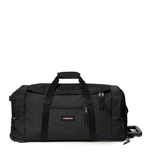 Eastpak Leatherface M + Wheeled Luggage, 69 cm, 69 L, Black