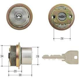 MIWA(美和ロック) U9シリンダー LIXタイプ 鍵 交換 取替え 2個同一セット MCY-424 LIX/TE0ステンレスへヤーライン色(ST)33〜42mm
