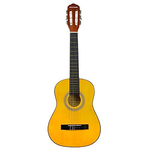 3rd Avenue Pack de guitarra clásica española Junior de tamaño 1/2 para principiantes, Guitarra acústica con cuerdas de nylon, funda de transporte, cejilla y púas