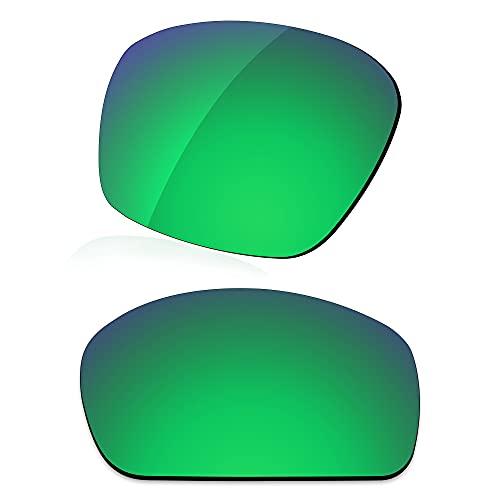 LenzReborn Reemplazo de lente polarizada para Arnette Heist AN4135 Sunglass - Más opciones, Verde césped - Espejo polarizado, Talla única