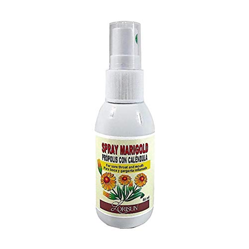 Spray de Propóleos y Caléndula 50 ml, de Lorisun, para garganta y boca inflamada