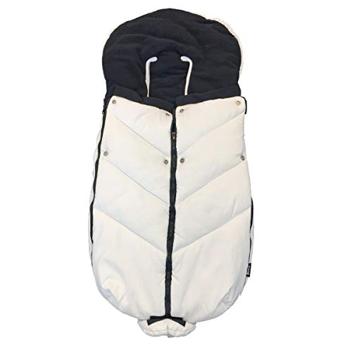 Bozz Ergo wit universeel extra lang dikke fleece gevoerde voetenbank/Cosytoes/Cosybag die past bij alle kinderwagens, kinderstoelen en reissystemen - afneembare top voor voering