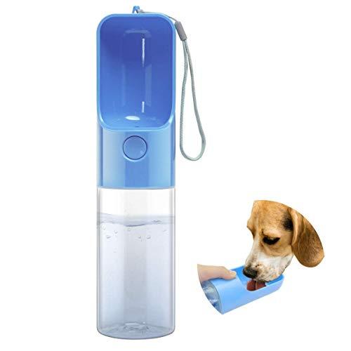 Esing Outdoor-Wasserflasche für Hunde, tragbarer Wasserspender für Spaziergänge, Welpen, Reisekocher, Trinknapf für Kätzchen, Lebensmittelqualität, BPA-frei (blau)