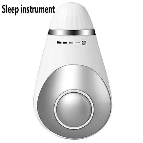 Ti-Fa Nuevo Dispositivo Inteligente para Dormir Portátil Instrumento para Dormir con Microcorriente de Carga USB para Dormir Dulcemente Exquisito,Blanco