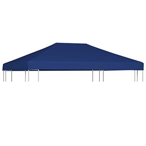 vidaXL Copertura Superiore per Gazebo 310 g/m² 4x3m Blu Telo Ricambio Parasole