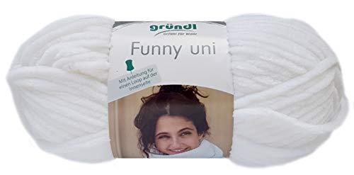 Gründl Funny 100g Softgarn aus 100% Polyester (01 Weiss)
