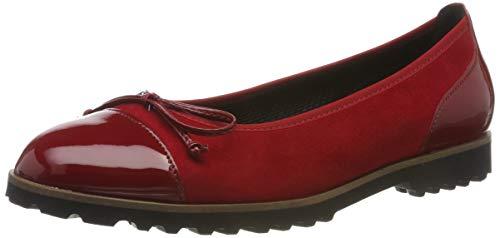 Gabor Shoes Damen Casual Geschlossene Ballerinas, Rot (Rubin/Cherry(Cogn) 13), 40 EU