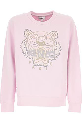 Sudadera de Mujer Rosa Kenzo Logo Tiger Talle M