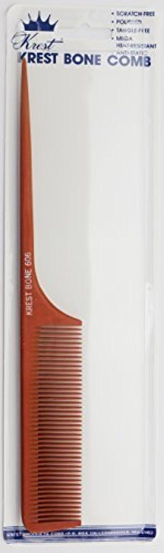 める高速道路協力するKrest Bone 9 Inch Fine Teeth Rattail comb. Professional comb. Heat Resistant Comb. Styling Combs. Detangle, Sectioning Comb. [並行輸入品]