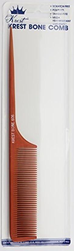 表示クレーン努力するKrest Bone 9 Inch Fine Teeth Rattail comb. Professional comb. Heat Resistant Comb. Styling Combs. Detangle, Sectioning Comb. [並行輸入品]