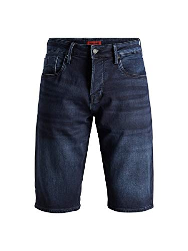 JACK & JONES Herren JJIRON JJLONG GE 955 I.K. STS Shorts, Blau (Blue Denim Blue Denim), W(Herstellergröße:S)