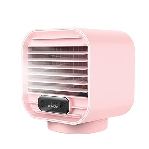 JIASHIQI Ventola di Raffreddamento Aria Portatile, Mini Ventola del condizionatore d'Aria Regolabile a 3 Marce, Ventola raffreddata ad Acqua Spray (Color : Pink)