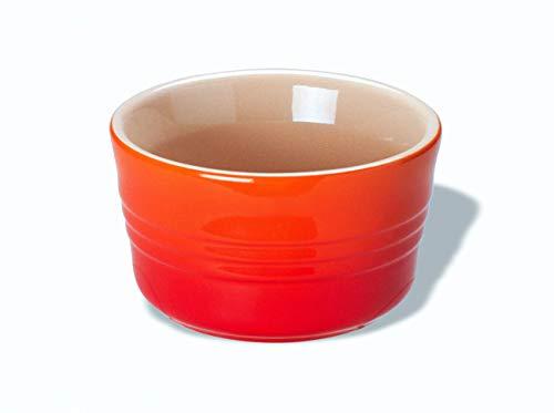 LE CREUSET Set de 2 ramequines, Redondo, Cada uno 200 ml/Ø 9,5 cm, Cerámica de gres, Naranja (Volcánico), 10 cm, 2