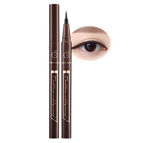 [FORENCOS] Tattoo All Proof Eyeliner 0.6g 4 Colors - All Day Long Lasting Brush Pen Eye Liner, Waterproof, Oilproof, Sweatproof, Easy Drawing, Natural Ingredients for Sensitive Eyes (02 Black Brown)