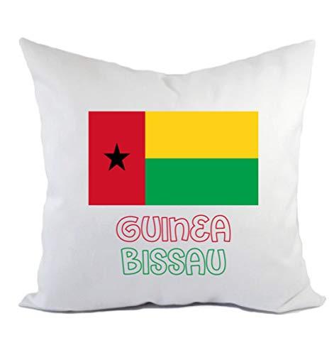 Typolitografie Ghisleri Kissen Guinea Bissau Flagge Kissenbezug & Füllung 40 x 40 cm aus Polyester