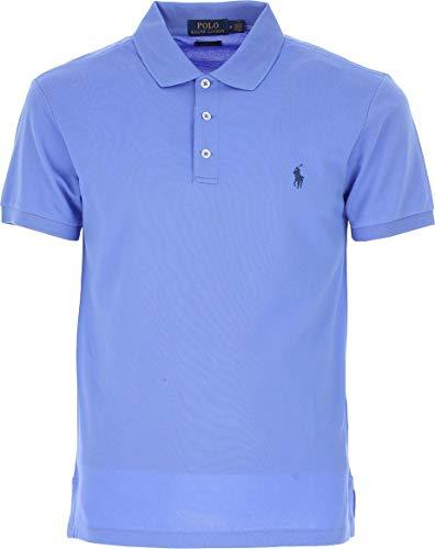 Ralph Lauren Luxury Fashion Herren 710541705056 Hellblau Elastan Poloshirt | Jahreszeit Outlet