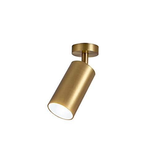 HELELE Moderne plafondlamp in messing lampenkap voor slaapkamer woonkamer hal (geen lichtbron)