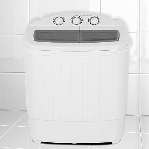Zoternen Mini Lavatrice 2 in 1 Lavatrice da Campeggio Lavatrice Portatile con Timer e asciugatrice, Salvaspazio e Compatta, Caricamento dall alto, Ideale per casa e dormitorio, capacità 11 lb