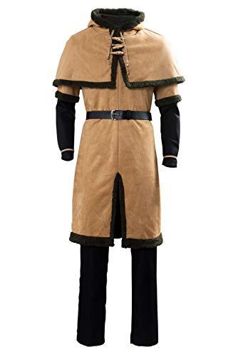 RedJade Thorfinn Viking Pirate Vinland Saga Outfit Traje de Cosplay Disfraz Hombres L