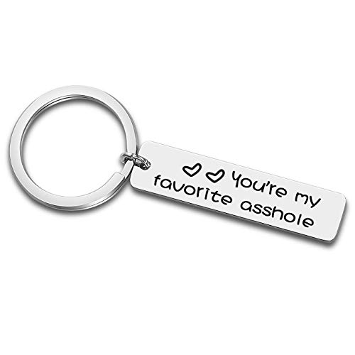 Funny Keychain Gifts for Boyfriend Husband, Wedding Anniversary Birthday Valentines Day Key Chain Gift for Couples