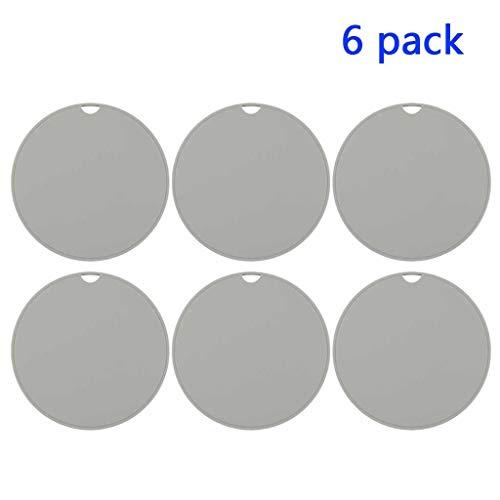 Thermische Kleine Silikon-Auflage Trivet Platzdeckchen Haushalt Verbrühschutz Pad Pot Bahn und Schale Matte hitzebeständige Isolierung 6-Pack (Color : Grey)