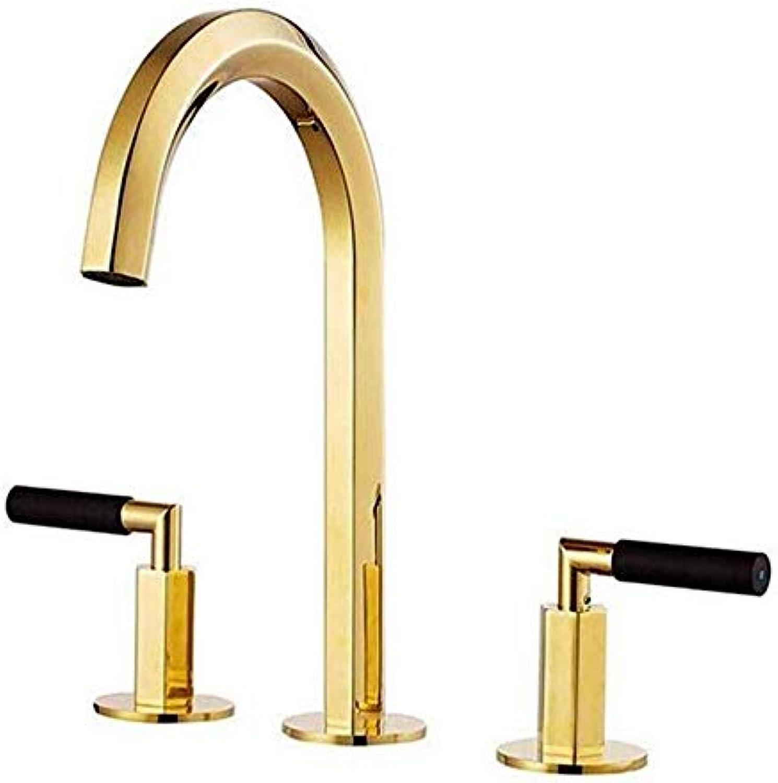 Waschbecken Wasserhahn Bad Waschbecken Wasserhahn Wasserhahn Bad Gold Antike Retro Doppelgriff Hei und Kalt