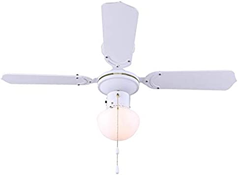 Unity 36 Inch S 4 Blade White Ceiling Fan With Light Amazon Com