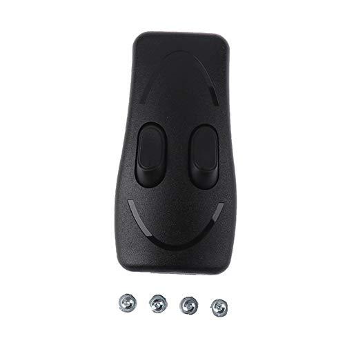 Interruptor de balancín en/apagado Doble interruptor de control de CE de la lámpara Lámpara de pie Lámpara de mesa interruptor de botón de dos vías (Color : Black)