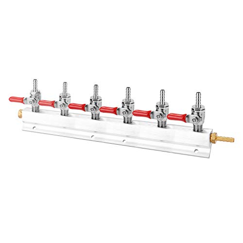 Kshzmoto Colector de Bloque de distribución de Gases de CO2 con púas de Manguera de 7 mm Herramientas de elaboración de Vino Dispositivo dispensador de Cerveza de Barril 5 Opcional