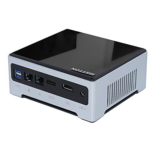 HISTTON Mini PC, Desktop Computer Kaby Lake i7-7820HQ Windows 10 Pro, Quad Core 64 bit, 32GB DDR4 512GB SSD, HDMI/DP/USB3.0/M2 Wifi/BT 4.2