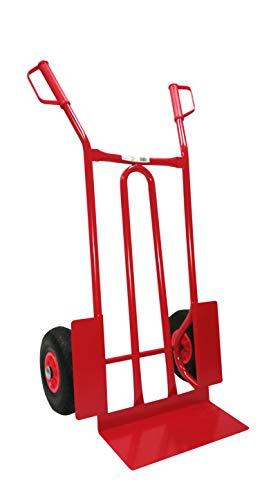 TRESTLES S01 Rot Sackkarre | Stahlgestänge | pannensicheres PU Rad | 250 kg Tragkraft | Made in EU
