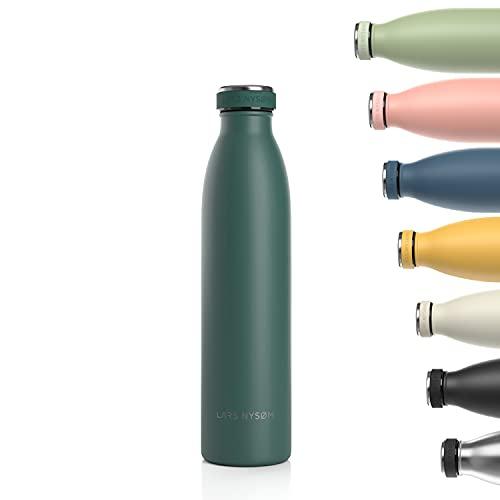 Lars NYSØM Borraccia Termica da 750ml in Acciaio Inox   Bottiglia isolata Senza BPA   Bottiglia d Acqua a Tenuta stagna per Sport, Bicicletta, Cane, Bambino Bambini