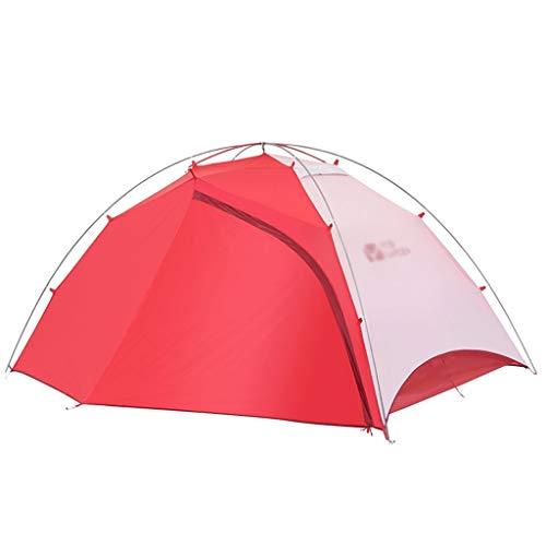Utilisation multiple Sports de plein air Tente de protection solaire anti-pluie extérieur pôle aluminium étanche coupe-vent respirant Camping Camping pliable Équipement d'extérieur ( Color : Red )