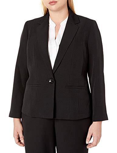 Kasper Women's Stretch Crepe One Button Jacket, Black, 14