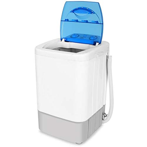 Oneconcept SG002 Camp Edition - Mini-Lavadora, Capacidad de 2,8 kg, Potencia de 250 W, Programador para lavado, Bajo Consumo energético y de Agua, Lavadora para Camping, Ideal para Estudiantes, Blanco