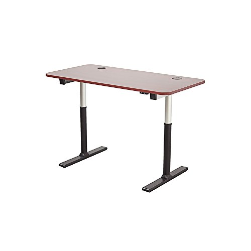 ApexDesk Vortex Series 60' 2-Button Electric Height Adjustable Sit to Stand Desk, New Cherry Top with Standard Controller