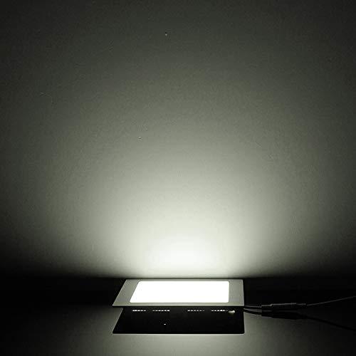 CESULIS Diseño ultra delgado 25W LED Techo empotrado de techo Downlight/luz redonda o cuadrada Luz del panel 225mm, 1pc / lot envío gratis (Emitting Color : Cold White)