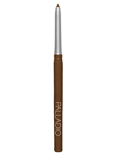 Palladio Retractable Waterproof Eyeliner, Richly Pigmented Color and Creamy, Slip Twist Up Pencil Eye Liner, Smudge Proof Long Lasting Application, All Day Wear, No Sharpener Required, Black Brown
