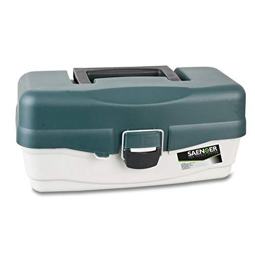 Saeger Unisex – vuxen 10C4039507124403C10 fiskeutrustning låda fiskelåda med 2 laster fiskeväska från Specitec sånger, flerfärgad, normal