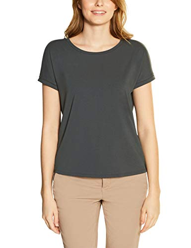 Street One Damen 314797 Crista T-Shirt, Comfort Green, 38