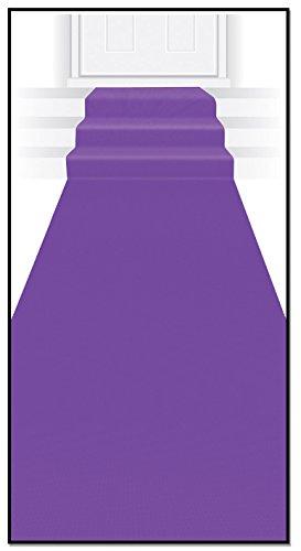 Beistle Novelty Purple Polyester Fabric Aisle Runner for Birthdays, Weddings, Graduation and Princess Theme Parties, 24 x 15