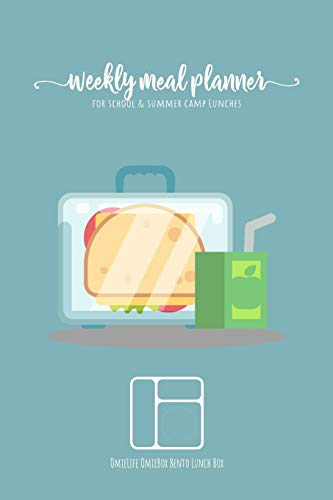 Weekly meal planner for school and summer camp lunches   OmieLife OmieBox Bento Lunch Box: DOWNLOADABLE FREE BONUS Lunch cute Notes PDF + Grocery ... to remember favorite lunchbox combinations.