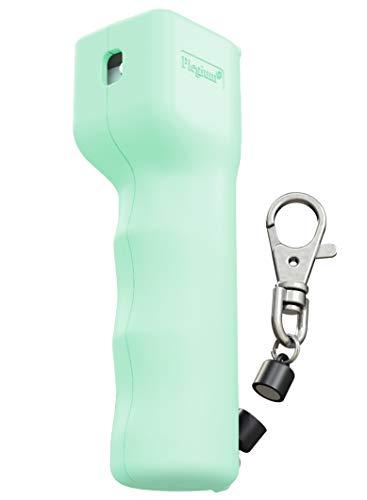 PLEGIUM PREMIUM Försvarsspray (Mintgrön) Laglig försvarsspray med delbar magnetisk nyckelkedja för snabb åtkomst.