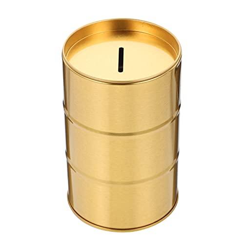 Beaupretty Goldene Entsorgung Fall Rasiermesser Lagerung Bank Sicherheit Rasierklingen Container Box Zinn Sparschwein für Hause Salon Barber
