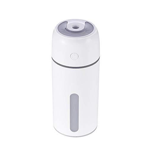 VSousT Umidificatore USB per Auto, umidificatore, Grande capacità, Silenzioso umidificatore, Camera da Letto, spegnimento Automatico, 12 Ore di Lavoro (Color : White)