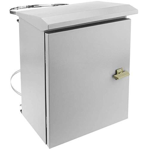 BeMatik - Elektroverteilerkasten aus Metall mit Schutzart IP65 zur Befestigung am Mast 300 x 400 x 200 mm
