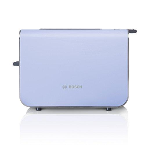 Bosch TAT8619 Styline Kompakt-Toaster, Auftau/Aufwärmfunktion, versenkbarer Brötchenaufsatz, Abschaltautomatik, 860 W, lila