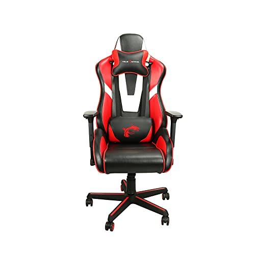 Silla de videojuegos, silla ergonómica de videojuegos, respaldo y asiento de altura ajustable giratorio reclinable