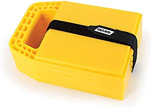 Camco RV Stabilizing Jack Pads, Helps Prevent Jacks From Sinking, 6.5 Inch x 9 Inch Pad - 4 Pack (44595), Yellow