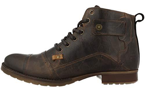 BULLBOXER Herren Stiefel, Männer Schnürstiefel,Boots,Chukka Boots,Schnürung, Boots Chukka schnürung Freizeit,braun,44 EU / 9.5 UK